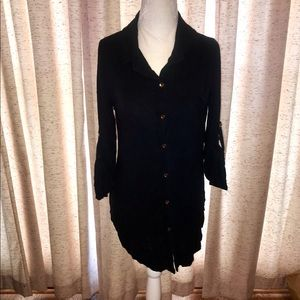 Charming Charlie Oversized Black Blouse (Size M)